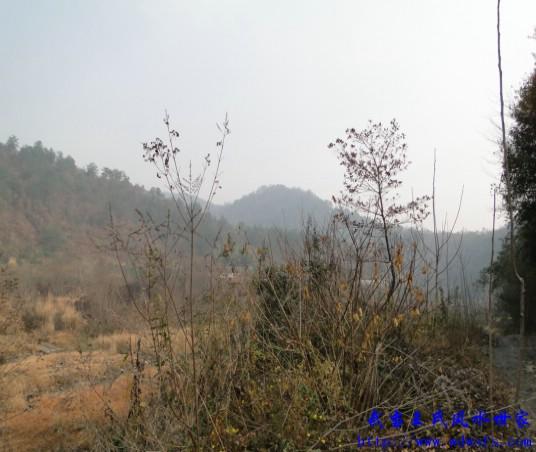 中国 荆门/朝山图,朝山开肩发一脉过穴为白虎护山。
