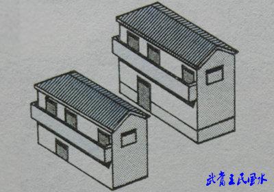 阴阳配合式房屋风水 阳宅风水图解 吉凶图解 阳宅风水建筑