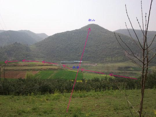 风水图解实例 湖北王君植风水地理大师提供阴宅实例图